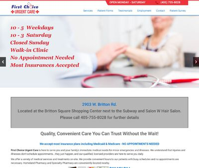 STD Testing at First Choice Urgent Care
