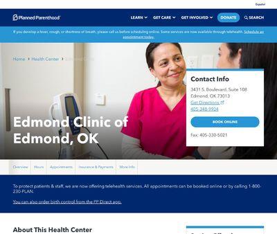 STD Testing at Planned Parenthood – Edmond Clinic of Edmond, OK