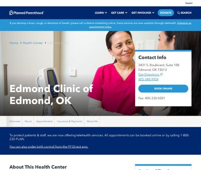 STD Testing at Planned Parenthood - Edmond Clinic of Edmond, OK