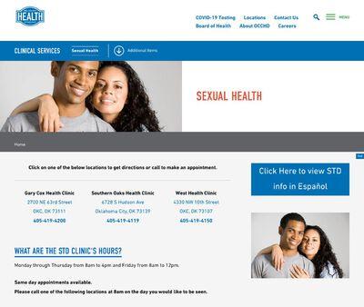 STD Testing at Gary Cox Clinic