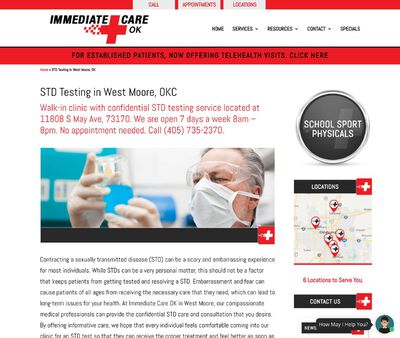 STD Testing at Immediate Care OK