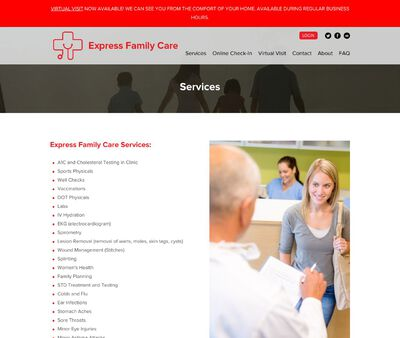 STD Testing at Express Family Care