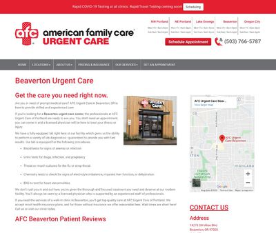 STD Testing at AFC Urgent Care Beaverton