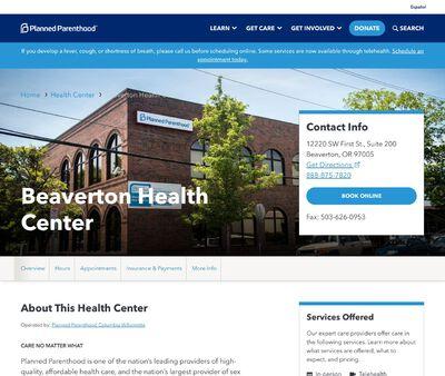STD Testing at Planned Parenthood - Beaverton Health Center