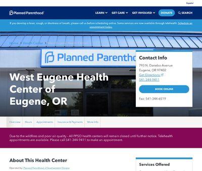 STD Testing at Planned Parenthood - West Eugene Health Center
