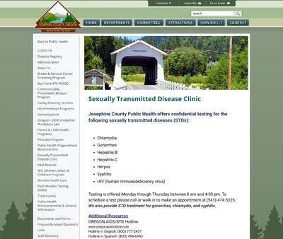 STD Testing at Josephine County Public Health