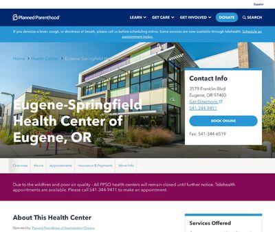 STD Testing at Planned Parenthood of Southwestern Oregon, Eugene-Springfield Health Center