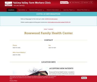 STD Testing at Yakima Valley Farm Workers Clinic (Rosewood Family Health Center)
