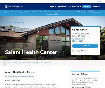 STD Testing at Planned Parenthood – Salem Health Center