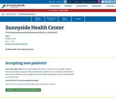 STD Testing at ClackamasCounty Health Center,Sunnyside Health Center