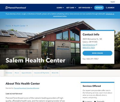 STD Testing at Salem Health Center