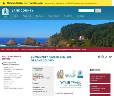 STD Testing at Community Health Centers of Lane County Springfield Schools Health Center
