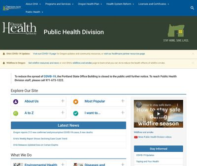 STD Testing at Oregon Public Health Division