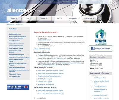 STD Testing at Pennsylvania Department of Health (Allentown Health Bureau)