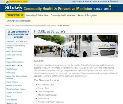 STD Testing at St Lukes University Health Network (AIDS Services Center)