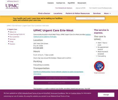 STD Testing at UPMC Urgent Care Erie-West