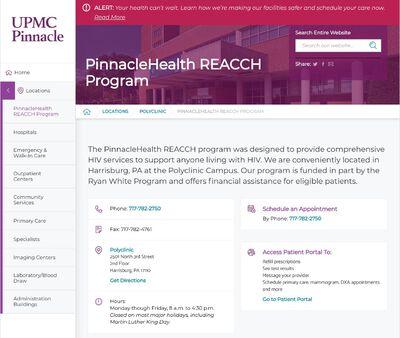 STD Testing at PinnacleHealth REACCH Program