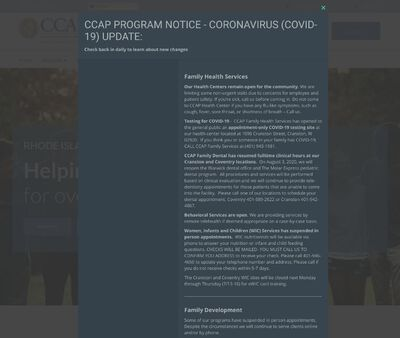 STD Testing at Comprehensive Community Action Program