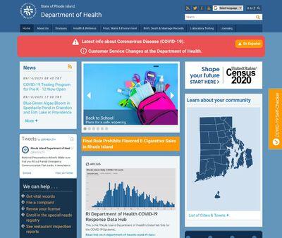 STD Testing at Rhode Island Department of Health