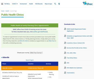 STD Testing at Anderson Public Health