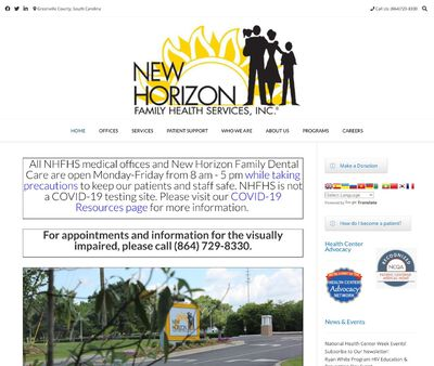 STD Testing at New Horizon Family Health Services Incorporated (Greenville)