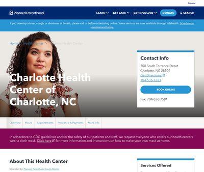 STD Testing at Planned Parenthood - Charlotte Health Center