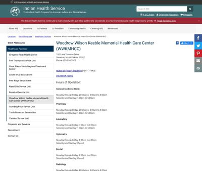 STD Testing at Indian Health Service – Woodrow Wilson Keeble Memorial Health Care Center