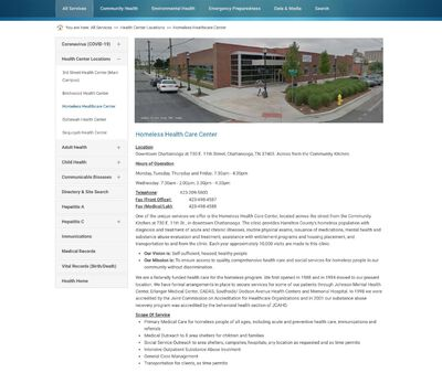 STD Testing at Chattanooga-Hamilton County Health Department (Homeless Health Care Center)