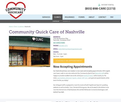STD Testing at Community Quick Care of Nashville