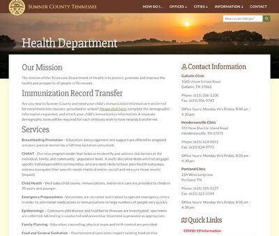 STD Testing at Sumner County Health Department