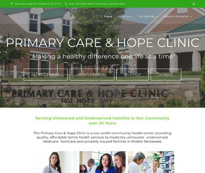 STD Testing at Primary Care & Hope Clinic