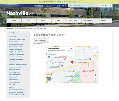 STD Testing at Lentz Public Health Center