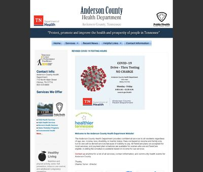 STD Testing at Anderson County Health Department