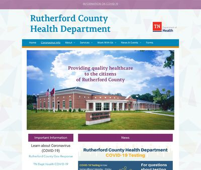STD Testing at Rutherford County Health Department North Rutherford Clinic