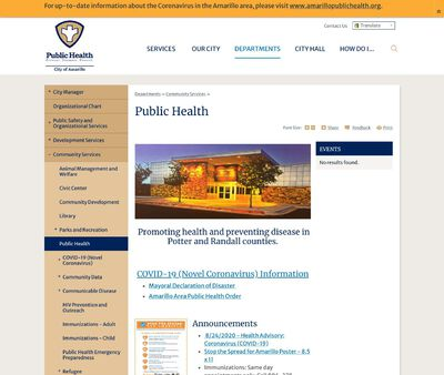 STD Testing at Amarillo Public Health Department