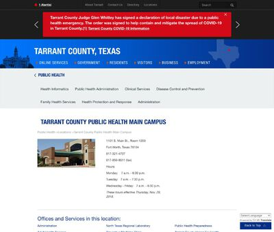 STD Testing at Tarrant County Health Department