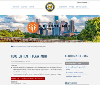 STD Testing at Houston Health Department (Northside Health Center)