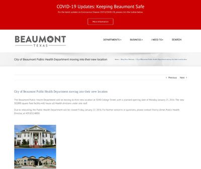 STD Testing at Beaumont Public Health