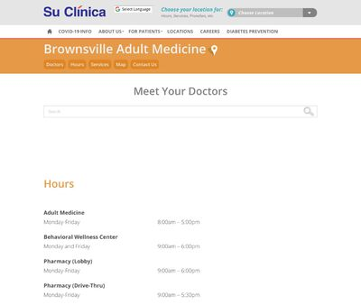 STD Testing at Su Clinica Familiar Incorporated (Brownsville Clinic)