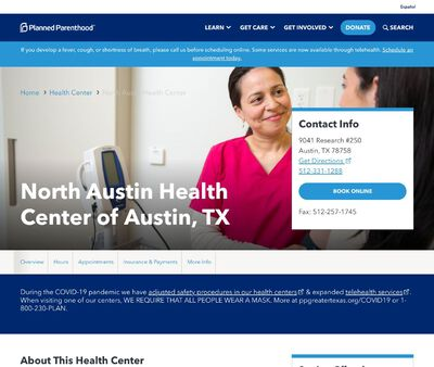 STD Testing at Planned Parenthood of Greater Texas North Austin Health Center