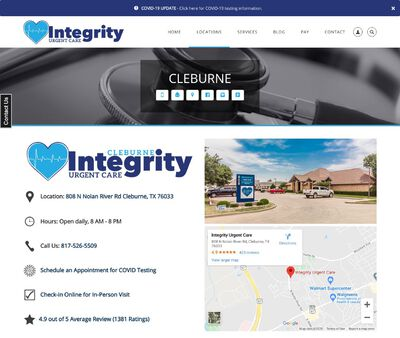 STD Testing at Integrity Urgent Care Cleburne, Texas