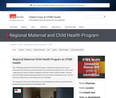 STD Testing at University of Texas Medical Branch, Regional Maternal and Child Health Program