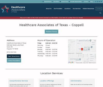STD Testing at HealthcareAssociates of Texas