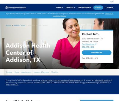 STD Testing at Planned Parenthood of Greater Texas - Addison Health Center
