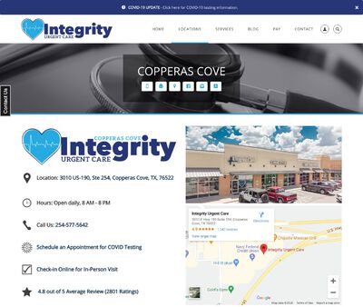 STD Testing at Integrity Urgent Care- Copperas Cove