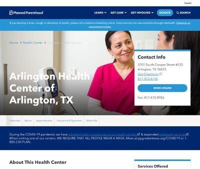 STD Testing at Planned Parenthood of Greater Texas (Arlington Health Center)