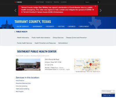 STD Testing at Tarrant County Public Health Department (Arlington Public Health Center)