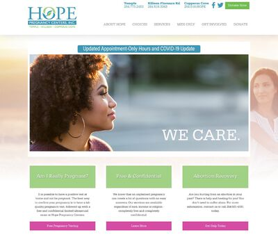 STD Testing at Hope Pregnancy Centers, Inc.