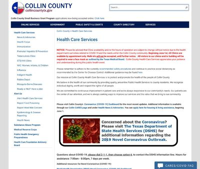 STD Testing at Collin County Health Care Services