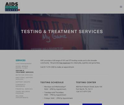 STD Testing at Aids Outreach Center